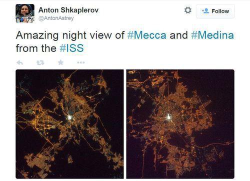 Takjubnya Kosmonot Rusia Saat Potret Mekkah dan Madinah Dari Luar Angkasa