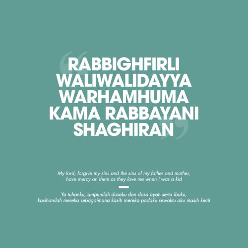 Doa untuk Kedua Orang Tua,…