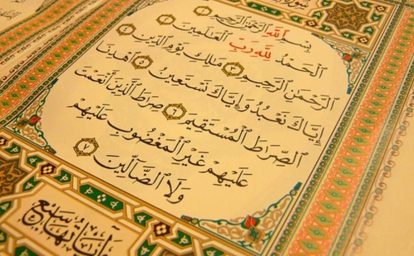 Yuk, Pahami Etika Membaca Al-Fatihah
