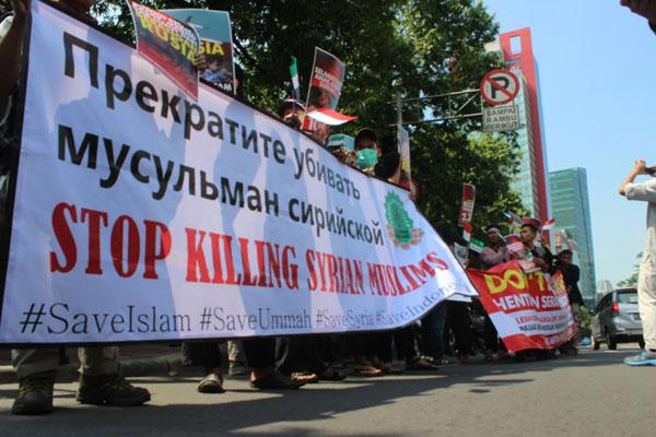 Gabungan NGO Kemanusiaan Gelar Aksi Damai Tolak Agresi Rusia di Suriah