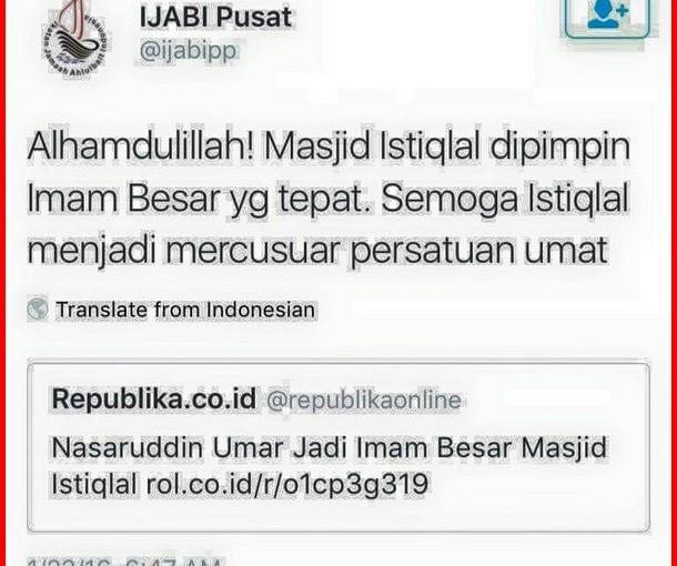 SYIAH Bergembira Digantinya KH Ali Mustafa Yaqub Sebagai Imam Besar Masjid Istiqlal