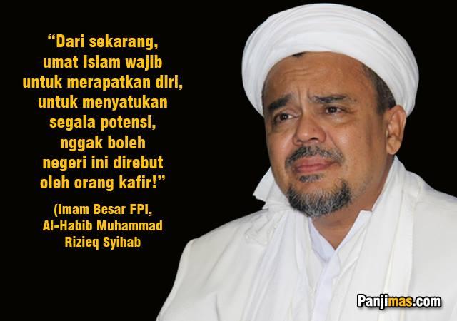 Imam Besar FPI: Orang Kafir Berusaha Merebut Tampuk Kekuasaan dari Tangan Umat Islam