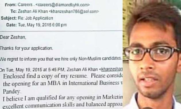 Seorang Pemuda di India Tak Diterima Kerja karena Beragama Islam