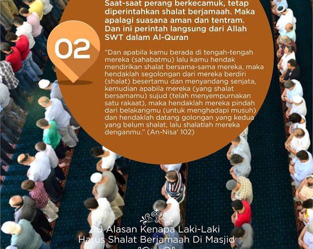 10 Alasan Laki-Laki Harus Sholat Berjamaah di Masjid -2-