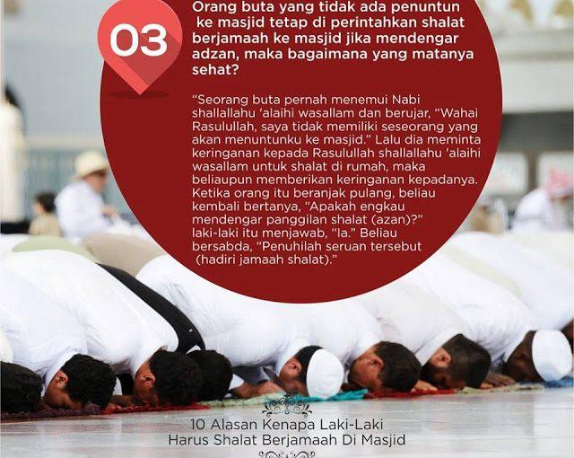 10 Alasan Laki-Laki Harus Sholat Berjamaah di Masjid -3-