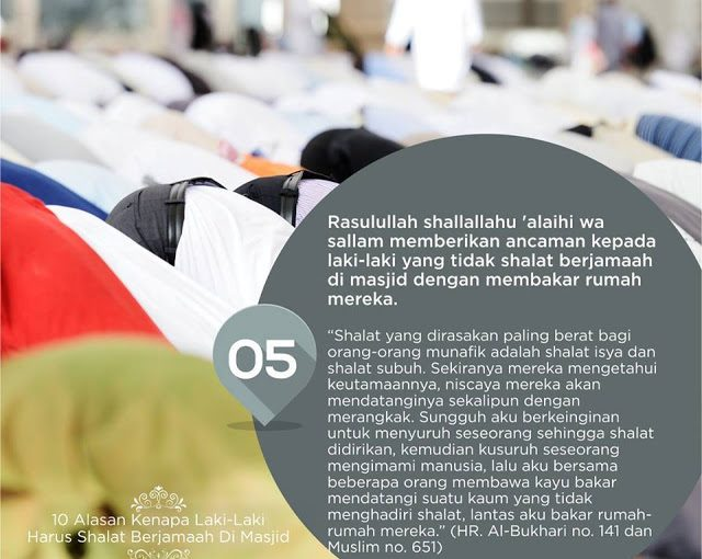 10 Alasan Laki-Laki Harus Sholat Berjamaah di Masjid -5-