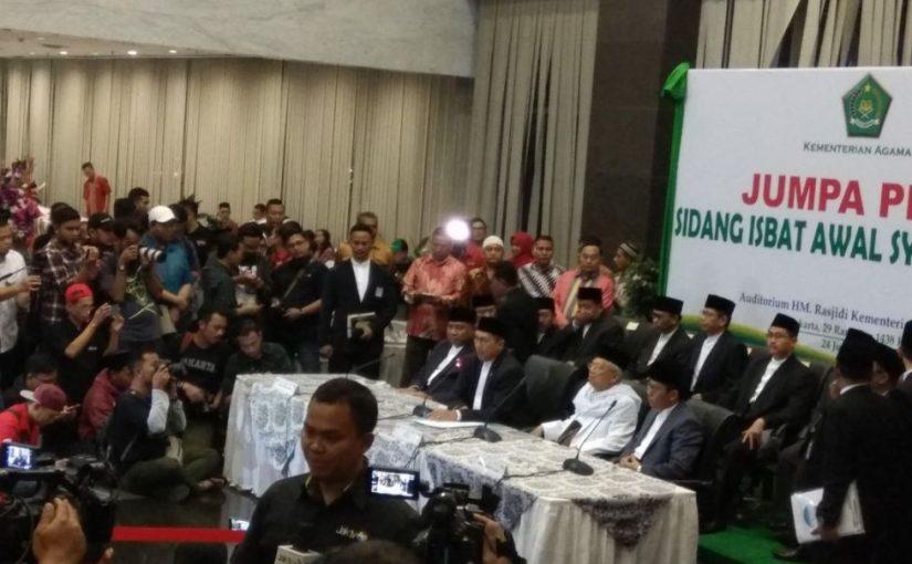 Sidang Isbat Tetapkan Idul Fitri 1438 Hijriah Besok, 25 Juni 2017