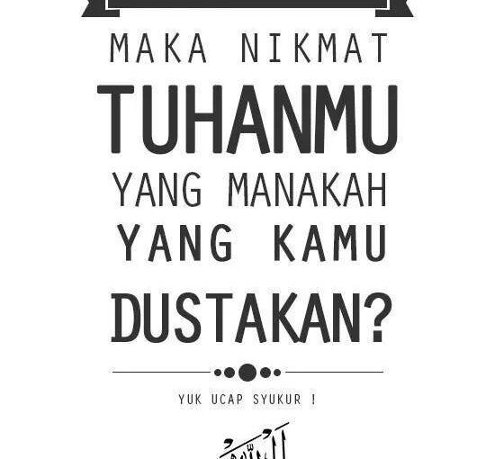 31 Pertanyaan Allah SWT di dalam Surat Ar-Rahman
