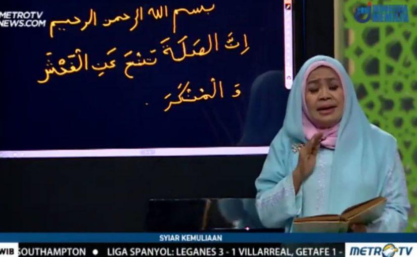 Salah Tulis Ayat Alquran, Ini Klarifikasi Ustazah Nani H