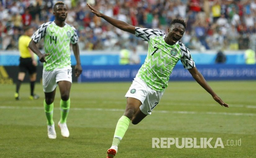 Ahmed Musa Bawa Nigeria Menang 2-0 atas Islandia