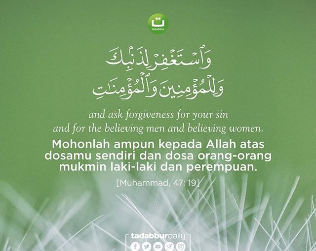 Memohon Ampunan untuk Dirimu dan Orang Lain,…