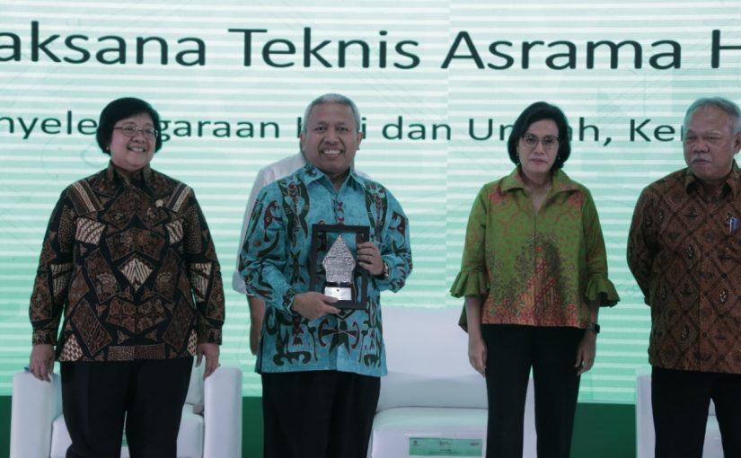 Asrama Haji Makassar Pemrakarsa SBSN Terbaik dari Menteri Keuangan