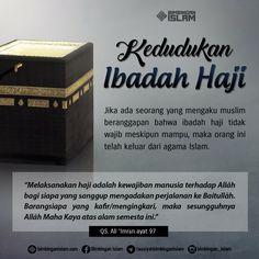 Kedudukan Ibadah Haji