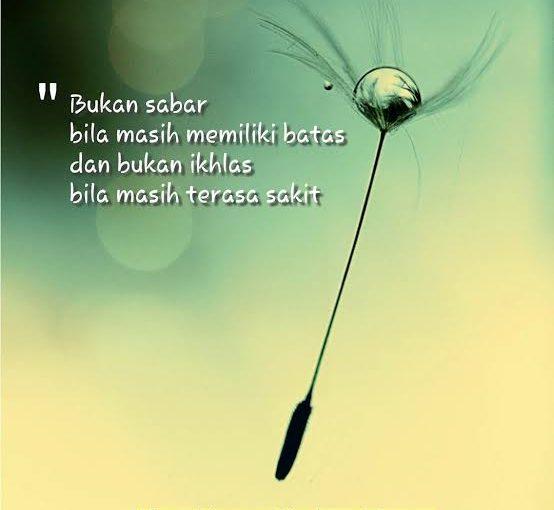 Sabar…