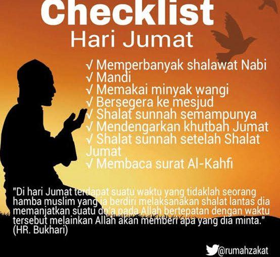 Checklist Hari Jumat