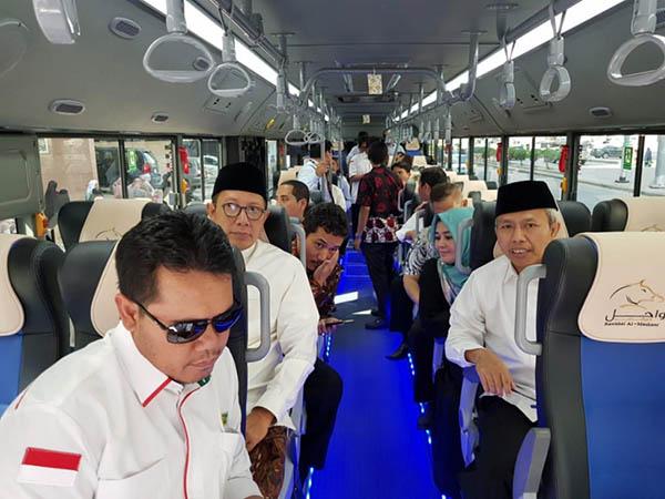 Gelar Simulasi, Menag: Seluruh Jemaah Haji Indonesia Dilayani Bus Shalawat