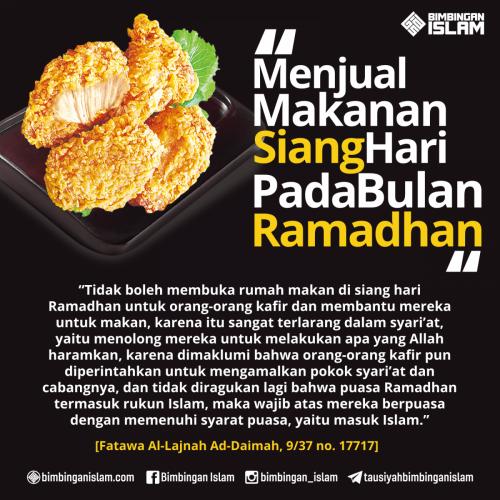Menjual Makanan di Siang Hari di Bulan Ramadhan