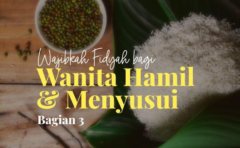 Wajibkah Fidyah bagi Wanita Hamil atau Menyusui jika Tidak Puasa Ramadhan? (Bag. 3)
