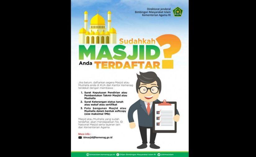 Ayo Daftarkan Masjid atau Musala Anda ke SIMAS, Ini Manfaatnya